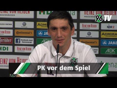 Spieltag: - Auf der Pressekonferenz vor dem Spiel gegen den 1. FC Köln sprachen 96-Sportdirektor Dirk Dufner und 96-Chefcoach Tayfun Korkut mit den Journalisten.