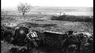 Maurepas France  city photos : French soldiers walk in a trench atop a ridge near Maurepas, Yvelines, France dur...HD Stock Footage
