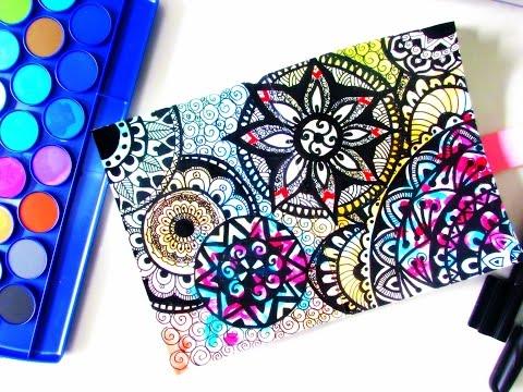 Watercolor Zentangle Art