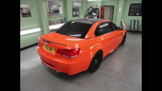 BMW M3 Orange Vinyl Wrap