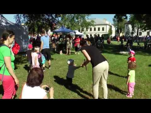 Hulín - Den dětí se slavil poprvé na náměstí.