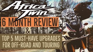 9. Africa Twin 6 Month Review & Top 5 Upgrades for Off-Road and Touring