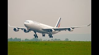 One of the last A340 in the AirFrance fleet landing on runway 26L at Paris Charles de Gaulles airport ! The remaining 340s will be soon retired as the airline got its new B787s !© DoubleH63 - 340 AF CDG 04/2017