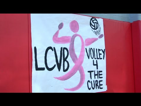 Lynchburg Volleyball Preps for Dig Pink Night