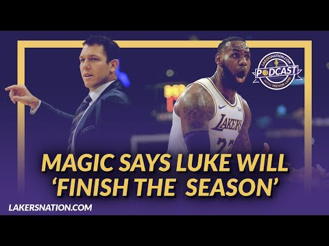 Video: Lakers Podcast: Magic on Sticking With Luke As Coach & Assesment of First 10 Games