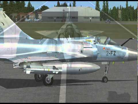 Interception d'un Air France A330 par un Mirage 2000-5 avec communication radio (FSX)