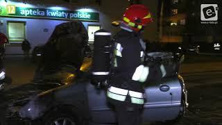 Pożar samochodu osobowego na ul. Włocławskiej