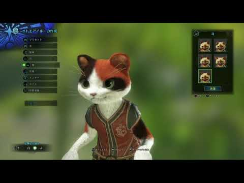 Monster Hunter World   Palico Cat Character Creation (видео)