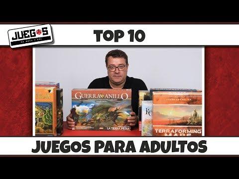 Top 10 juegos de mesa para adultos