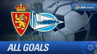 Todos los goles de Real Zaragoza (1-0) Deportivo Alavés - HD