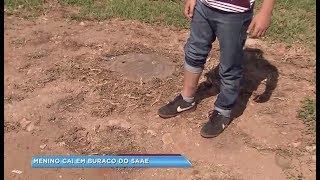 Família de menino que se feriu ao cair dentro de caixa de contenção processa SAAE