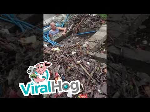 Irrigation Channel Completely Blocked By Garbage || ViralHog