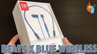 BeatsX Wireless Earphones Blue Unboxing and First Look