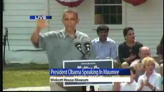 Maumee (OH) United States  City pictures : President Obama speaks in Maumee during Betting on America tour