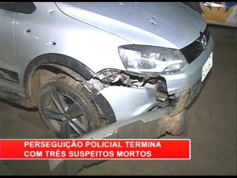 [RONDA GERAL] Perseguição policial termina com três suspeitos mortos
