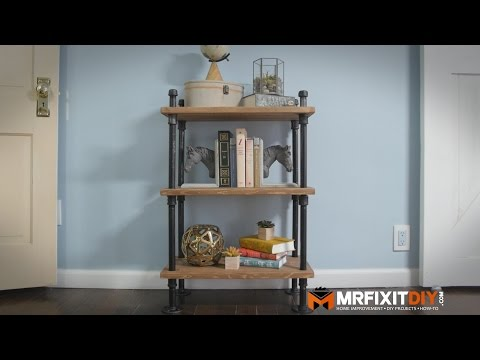 DIY Industrial Pipe Bookshelf