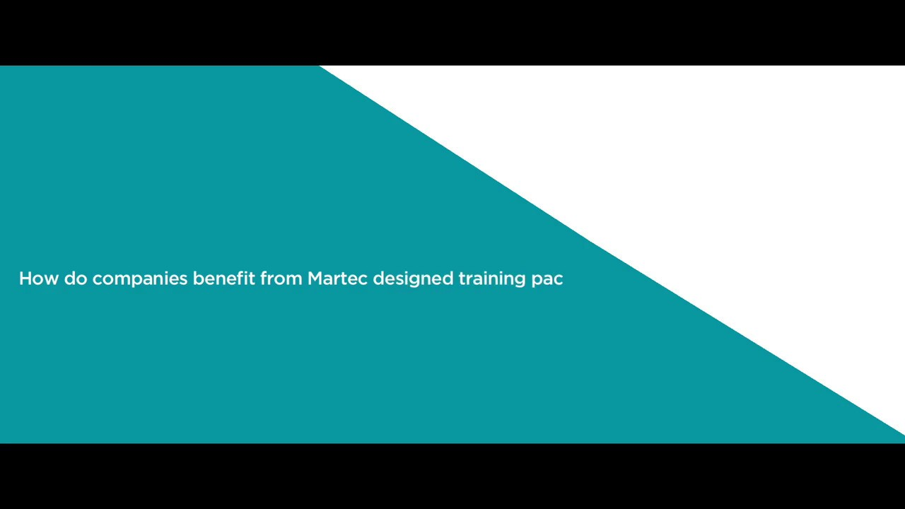 How do companies benefit from Martec designed training packages?