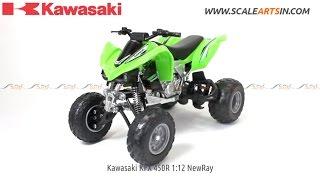 8. Kawasaki KFX 450R 1:12 NewRay diecast scale model quad bike www.scaleartsin.com