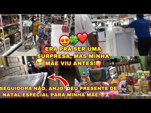 COMPRAS DO MÊS DE DEZEMBRO JÁ!+ORGANIZANDO AS COMPRAS|| UMA SEGUIDORA PRESENTEOU MINHA MÃE!😱😍✨