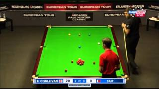 Ronnie O'Sullivan - Ahmed Saif (Full Match) Snooker Paul Hunter Classic 2013 - Round 5