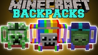 Minecraft: ADVENTURERS BACKPACKS MOD (AMAZING BACKPACKS WITH SPECIAL ABILITIES!) Mod Showcase