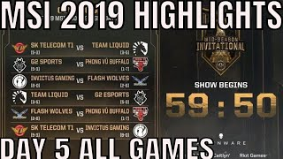 Video MSI 2019 Highlights ALL GAMES Day 5 Group Stage - Mid Season Invitational 2019 MP3, 3GP, MP4, WEBM, AVI, FLV Agustus 2019