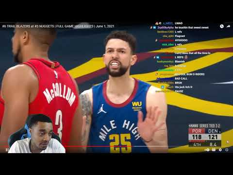 FlightReacts #6 TRAIL BLAZERS at #3 NUGGETS | FULL GAME 5 HIGHLIGHTS | June 1, 2021!