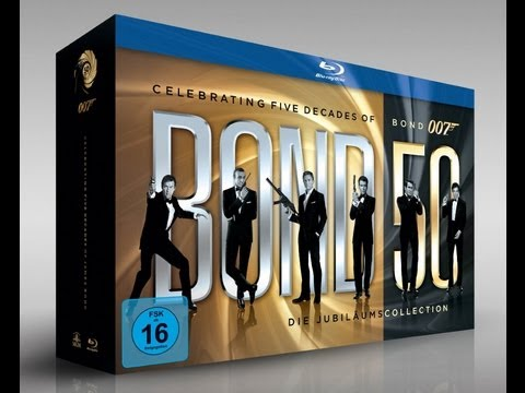 James Bond 007 die Jubiläums-Collection Blu-Ray Unboxing/Review Deutsch
