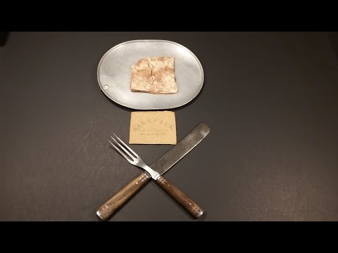 Guy Eats A 153YearOld Cracker From A Civil War Military