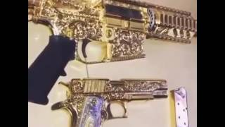 Never Before Seen...... Cartel Weapons All Gold