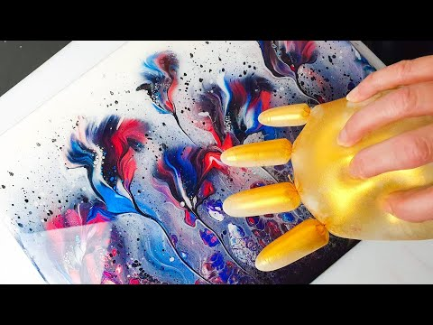 STUNNING Flowers & Balloon Roll | AB Creative Acrylic Pouring Tutorial - Heather Mader Collab