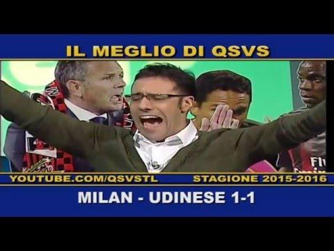 qsvs: i gol di milan - udinese 1 a 1