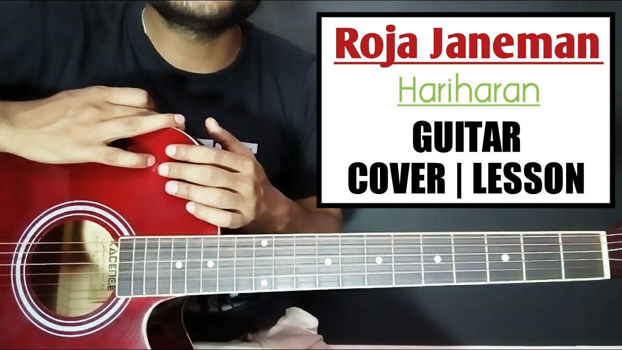 Roja Janeman Guitar Chords Lesson and Cover – Hariharan – Roja – Hindi Bollywood songs Guitar chords