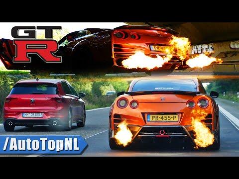 NISSAN GTR R35 *INSANE FLAMES* @ARMYTRIX & 100-200 by AutoTopNL