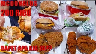 Video McDONALDS 200 RIBU CHALLENGE MP3, 3GP, MP4, WEBM, AVI, FLV September 2018
