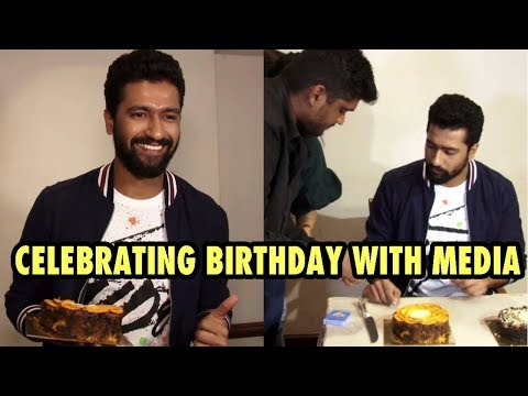 Vicky Kaushal Celebrates His Birhday With Media