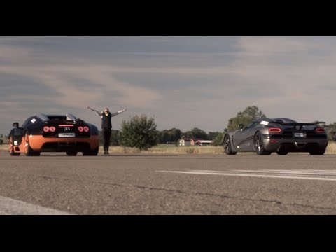 agera - Presented by Samsung Ultra HD TV: This Ultra HD video shows the race between 1200 HP Bugatti Veyron Vitesse vs Koenigsegg Agera R from standing start. Samsun...