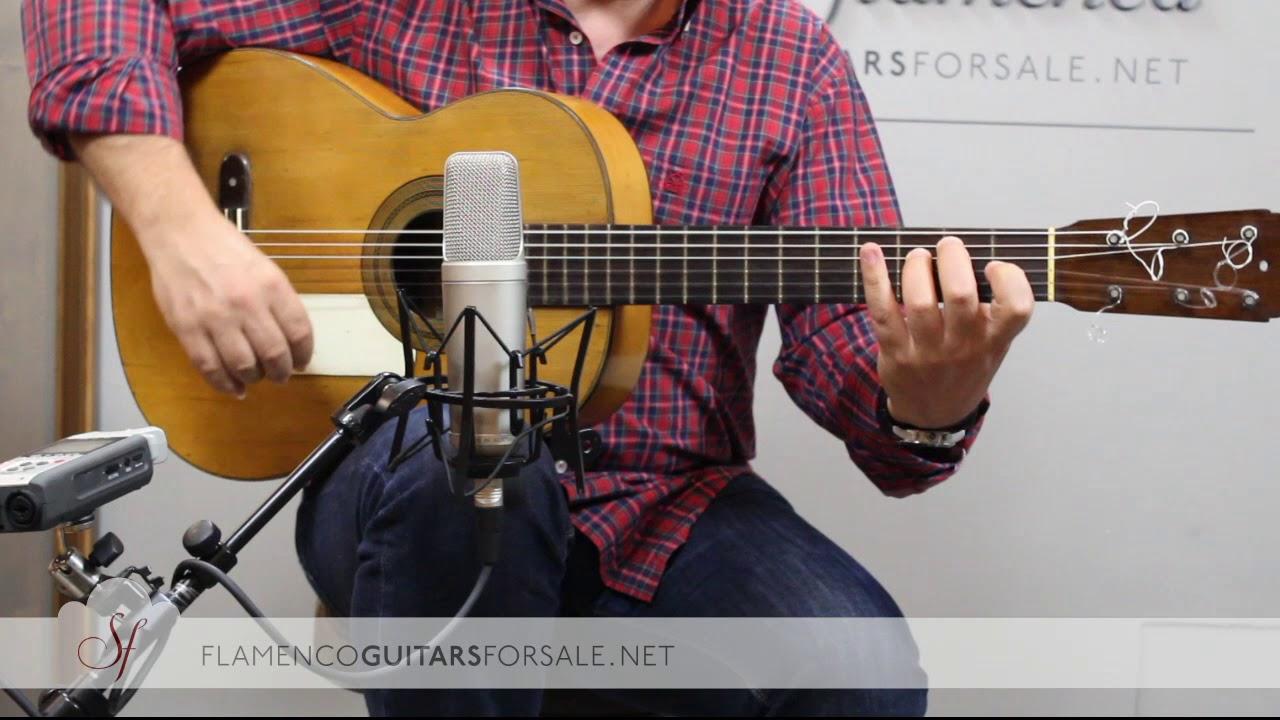 VIDEO TEST: José Ramírez 1907 flamenco guitar for sale