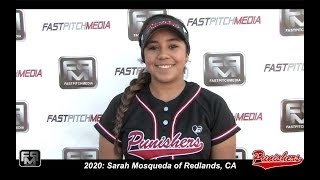 2020 Sarah Mosqueda Pitcher Softball Skills Video