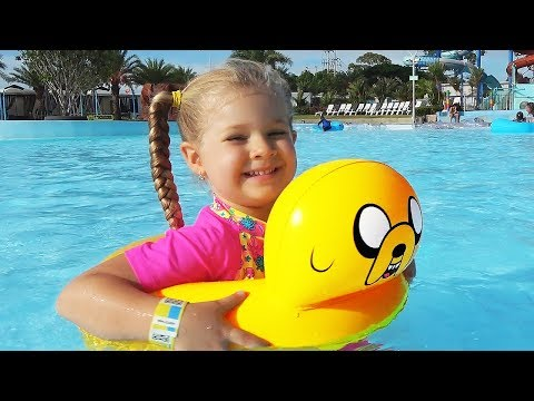 Diana and Papa Pretend Play at the WaterPark! My super fun day with Dad and kids toys