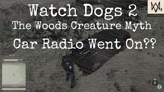 Watch Dogs 2 - The Woods Creature Myth   Car Radio Went On??