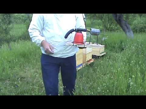 La start in apicultura - 3 -Tratarea stupilor cu Taktic+petrol (5ml/100ml)
