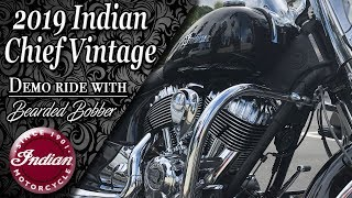 8. 2019 Indian Chief Vintage quick first ride with The Bearded Bobber