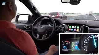 Thử hệ thống kiểm soát hành trình trên Ford Ranger
