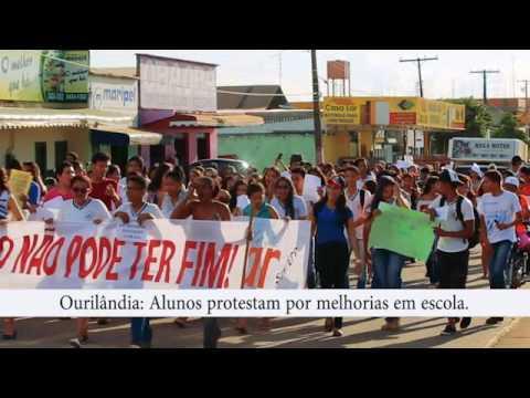 Ourilândia do Norte : Alunos protestam por melhorias em escola no Pará.