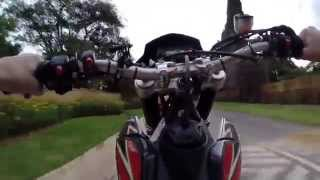 8. Having fun on a Aprilia SXV-550 Supermoto Motard