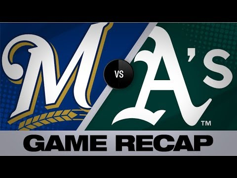 Video: Chapman's HR in 8th powers A's past Brewers | Brewers-Athletics Game Highlights 8/1/19