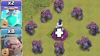 TRY TO STOP 10 GOLEMS!!🔸NEW EVENT CLONE TROLL🔸Clash of clans