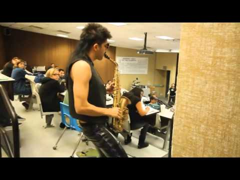 VIDEO:  Sexy sax man invades the public with Careless Whisper, haha~