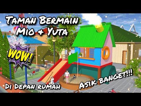 Review Taman Bermain untuk Mio dan Yuta di Depan Rumah Mereka!! | Sakura School Simulator
